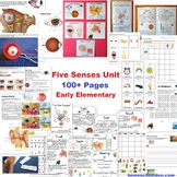 Five Sense Unit  100 pages for Early Elementary