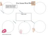 Five Sense Word Web