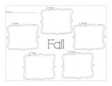 Five Senses Writing: Fall
