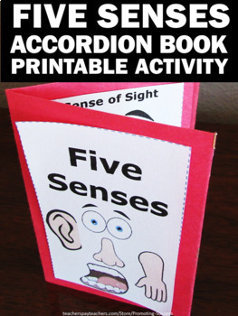 The Five Senses Accordion Book, Human Body Activities, Special Education