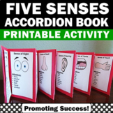 The Five Senses Book, Science Interactive Notebook, Special Education Autism