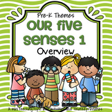 Five Senses Theme Math, Literacy and Science Activities and Centers Preschool