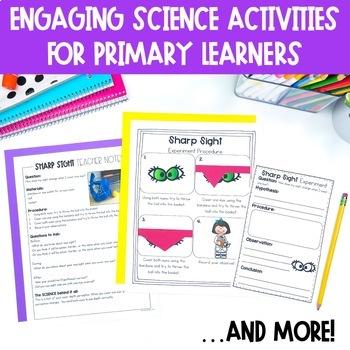 Five Senses Unit: Activities, Experiments, Interactive Notebook Pages, & More