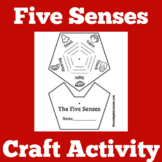 Five Senses Graphic Organizer | Five Senses Worksheet | 5 Senses Craft