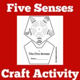 Five Senses Worksheet Activity