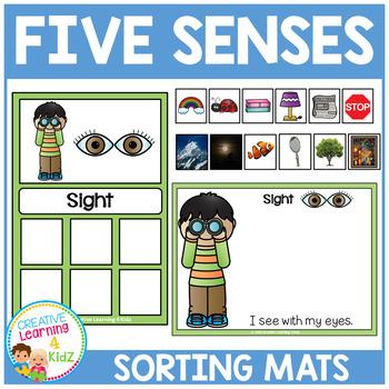 Five Senses Sorting Mats