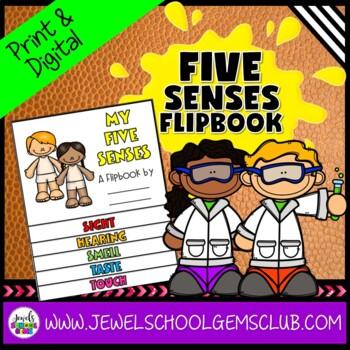 Five Senses Activities (5 Senses Flipbook)