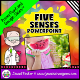 Five Senses Activities (5 Senses PowerPoint with Google Sl