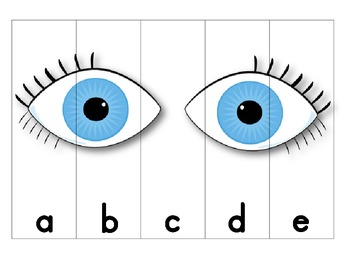 Five Senses ABC Order Puzzles (lowercase)