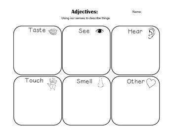 Five Senses Adjectives