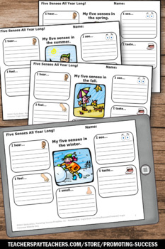 Five Senses Activities, All Year Long Writing, Science Centers