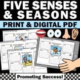 Five Senses Activities, Descriptive Writing Worksheets