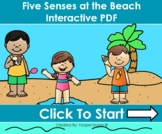 Five Senses At The Beach Distance Learning Interactive PDFs