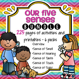 Five Senses Themes BUNDLE Sight, Smell, Hearing, Touch and Taste Preschool
