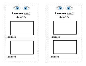 Five Senses Booklet