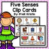 Five Senses Clip Cards