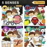 Five Senses Clipart Bundle