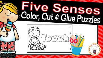 Five Senses Color, Cut & Glue Puzzles