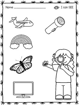 Five senses coloring pages by kristen davis teachers pay for Five senses coloring pages