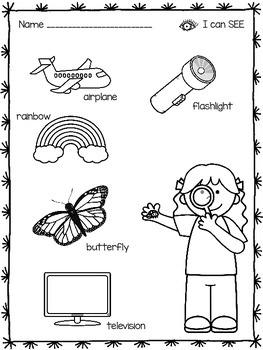 free five senses coloring pages | Five Senses Coloring Pages by Kristen Davis | Teachers Pay ...