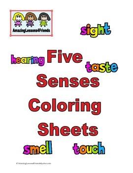 Five Senses Coloring Sheets