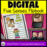 Five Senses DIGITAL Flipbook (Google Classroom Distance Le