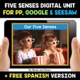 Five Senses Digital Activities for Google and Seesaw - Dis