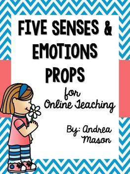Five Senses & Emotions Props for Online Teaching (VIPKid)