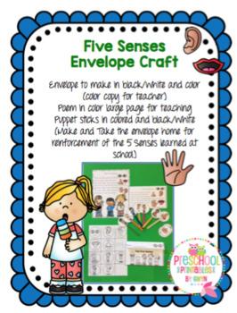 Five Senses Envelope Craft
