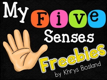 Five Senses FREEBIE {Science Activities} {Interactive and Engaging} {CCSS}
