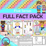 FIVE SENSES Fact Pack 5 SENSES Reading Writing Flip Books