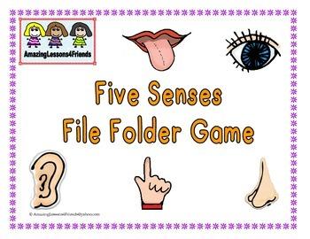 Five Senses File Folder Game