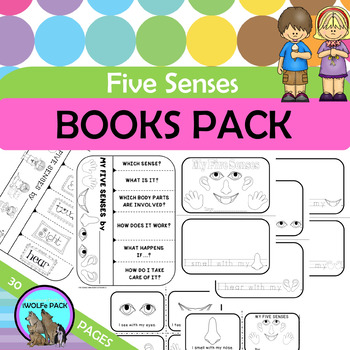 FIVE SENSES Flip Books 5 SENSES Mini Books