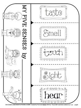 FIVE SENSES Flip Books 5 SENSES Mini Books