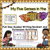 Five Senses Full Page Guided Writing Book and Extension Ac