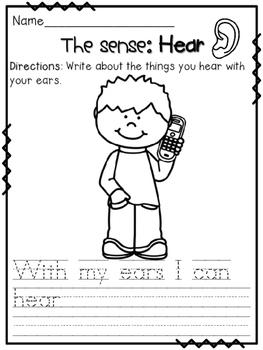 Five Senses Fun Packet ~ NO PREP