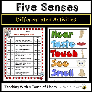 health five senses differentiated activities 5 senses activities