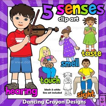 Five Senses Clip Art | Kids