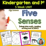 Five Senses UNIT Kindergarten and First Grade 5 Weeks