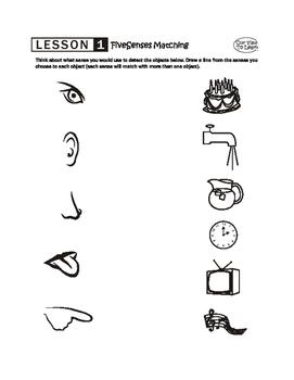 Five Senses Lesson Plan
