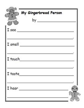 Five Senses (Making Gingerbread People)