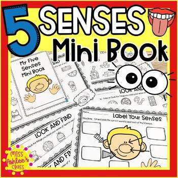 Five Senses Activities | Five Senses Mini Book and Comprehension