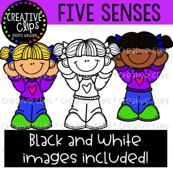 Five Senses Mini Bundle {Creative Clips Clipart}