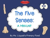 Five Senses Unit for Preschool, Kindergarten, or 1st Grade