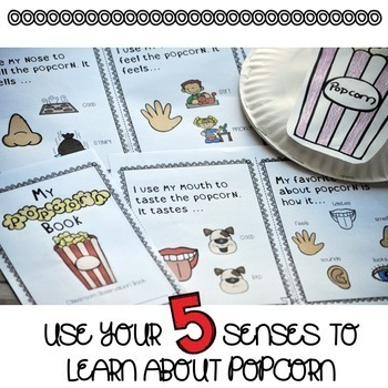 Five Senses Experiment | Popcorn Book | Special Education and Autism Resource
