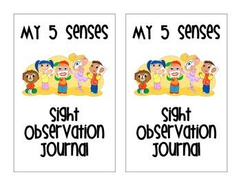 Five Senses Sight Observation Journal