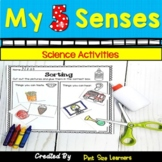 Five Senses Center Activities and Worksheets PK and K