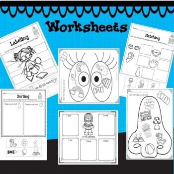 Five Senses Unit Activities   5 Senses Worksheets   Pre-K ...