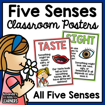 Five Senses Posters and Prompt Cards