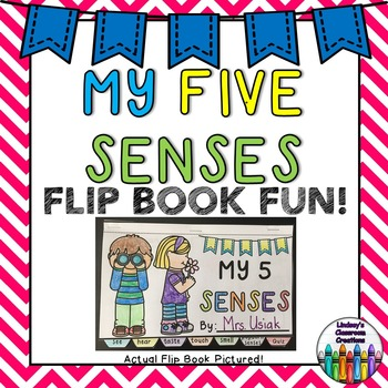 Five Senses Science Flip Book Activity!  Great for Centers!  K-2